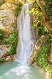 Cachoeira bonita do Neda em Peloponnese Grécia Uma maravilha famosa da natureza Imagem de Stock Royalty Free