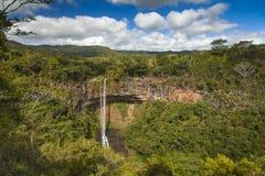 Cachoeira bonita em Maurícias Imagem de Stock
