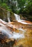 Cachoeira bonita na floresta úmida Imagens de Stock