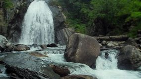 Cachoeira bonita na floresta filme