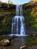 Cachoeira bonita, Nant Bwrefwy, Blaen-y-Glyn superior Fotografia de Stock