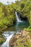 Cachoeira bonita perto de Hana Maui imagem de stock royalty free