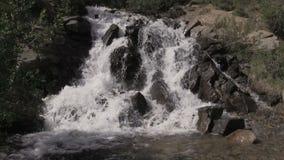 Cachoeira cênico da montanha no verão video estoque