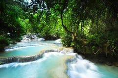 Cachoeira calma da cascata Fotos de Stock Royalty Free