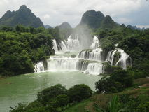 Cachoeira China de Detian foto de stock royalty free