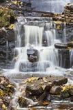 Cachoeira com folhas de outono Imagem de Stock Royalty Free