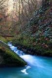 Cachoeira com a ponte 2 fotografia de stock royalty free