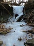 Cachoeira congelada Fotografia de Stock Royalty Free