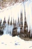 Cachoeira congelada em fevereiro Foto de Stock