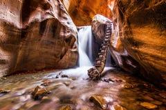 Cachoeira da angra de Kanarra Fotografia de Stock