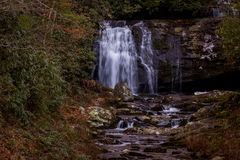 Cachoeira da borda da estrada (quedas de Meigs) fotos de stock royalty free