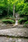 Cachoeira da etapa da escada em Gelendzhik Imagem de Stock