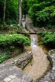 Cachoeira da etapa da escada em Gelendzhik Fotos de Stock Royalty Free