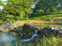Cachoeira da exploração agrícola do tio chris foto de stock