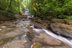 Cachoeira da floresta úmida Fotografia de Stock