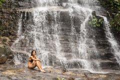 Cachoeira da floresta úmida Imagens de Stock Royalty Free