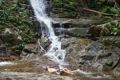 Cachoeira da floresta úmida Imagem de Stock