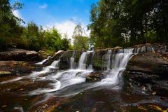 Cachoeira da floresta em Tailândia Fotografia de Stock