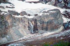 Cachoeira da geleira em Mt Rainier National Park Imagem de Stock