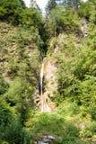 Cachoeira da montanha que flui entre as inclinações íngremes do Rhodope Imagens de Stock Royalty Free