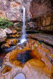 Cachoeira Da Primavera, Spring Waterfall, Chapada Diamantina National Park, Lencois, Bahia, Brazil, South America. Beautiful Cachoeira Da Primavera, Spring royalty free stock photos