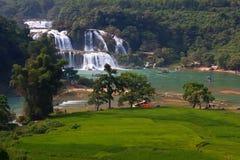 Cachoeira da proibição Gioc - do Detian em Cao Bang, Vietname Foto de Stock
