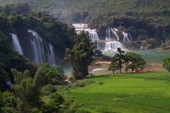 Cachoeira da proibição Gioc - do Detian em Cao Bang, Vietname fotografia de stock