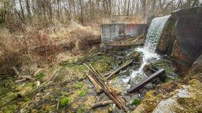 Cachoeira da represa do vale do paraíso - Eagle, WI fotografia de stock royalty free
