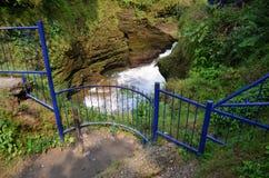 Cachoeira das quedas ou do diabo do inferno em Pokhara em Nepal Fotos de Stock