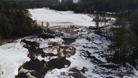 Cachoeira de Adirondack no inverno fotografia de stock royalty free