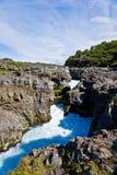 Cachoeira de Barnafoss em Islândia Fotografia de Stock Royalty Free