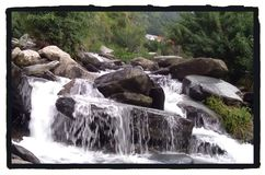Cachoeira de Bhagsunag fotografia de stock