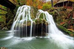 Cachoeira de Bigar, Romênia Fotografia de Stock