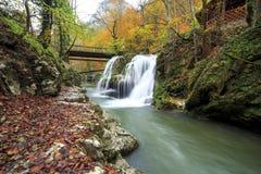 Cachoeira de Bigar, Romênia Imagem de Stock