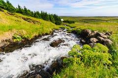 Cachoeira de Bjarnarfoss na extremidade ocidental dos snaefellsnes Imagem de Stock Royalty Free
