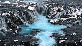 Cachoeira de Bruarfoss, Reykjavik, Islândia vídeos de arquivo