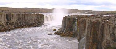 Cachoeira de Dettifoss, Isl?ndia foto de stock