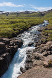 Cachoeira de Dynjandi Fotografia de Stock