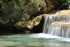 Cachoeira de Eravan, Kanchanabury, Tailândia Fotografia de Stock