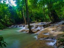 Cachoeira de Erawan fotos de stock