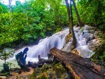 Cachoeira de Erawan imagens de stock