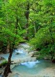 Cachoeira de Erawan, Kanchanaburi, Tailândia Fotos de Stock Royalty Free