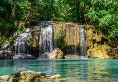 Cachoeira de Erawan, Kanchanaburi, Tailândia Foto de Stock