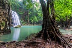 Cachoeira de Erawan, Tailândia Fotos de Stock Royalty Free