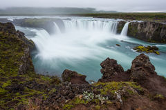 Cachoeira de Godafoss, distrito de Myvatn, ao norte de Islândia foto de stock royalty free