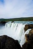 Cachoeira de Godafoss em Islândia Fotos de Stock
