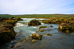 Cachoeira de Godafoss em Islândia Foto de Stock