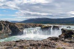 Cachoeira de Godafoss - Islândia do norte imagem de stock royalty free