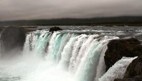 Cachoeira de Godafoss, Isl?ndia imagens de stock