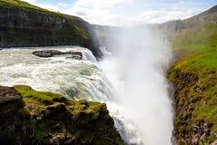 Cachoeira de Gullfoss em Islândia imagens de stock royalty free
